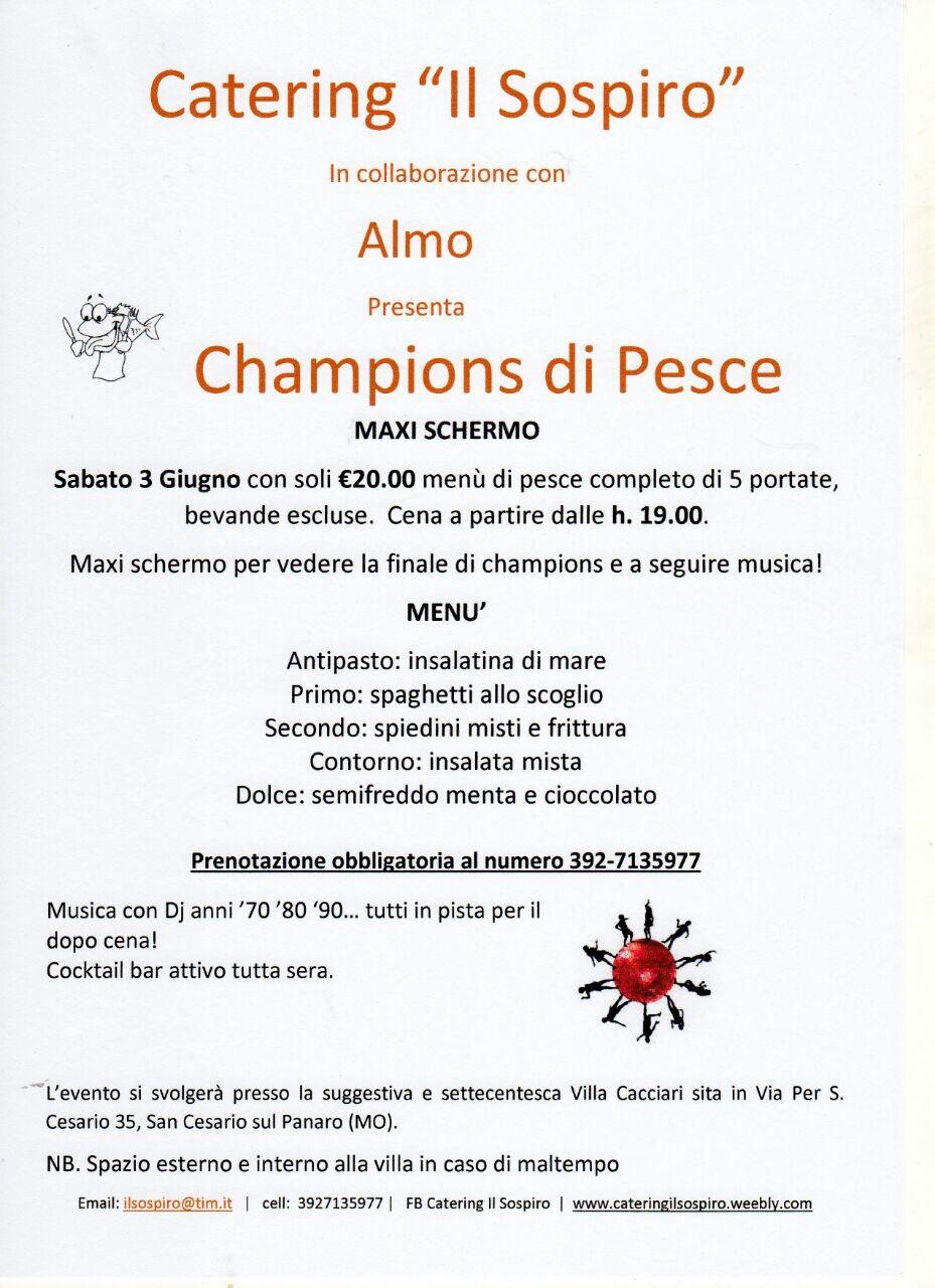 Champions Di Pesce Degustazione Di Menù Di Pesce Con Maxischermo